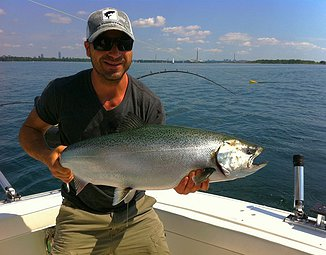 Making Sure All Our Lake Ontario Fishing Customers Leave with Big Trophy Salmon and Trout